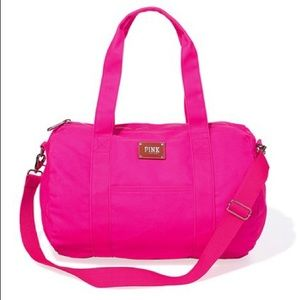 Victoria Secret Neon Hot PINK Travel Duffle Bag